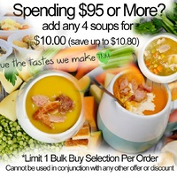 Bulk Buys - Any 4 Soups $10 (save up to $10.80)